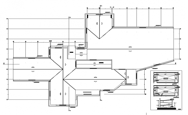 Roof Library plan layout file