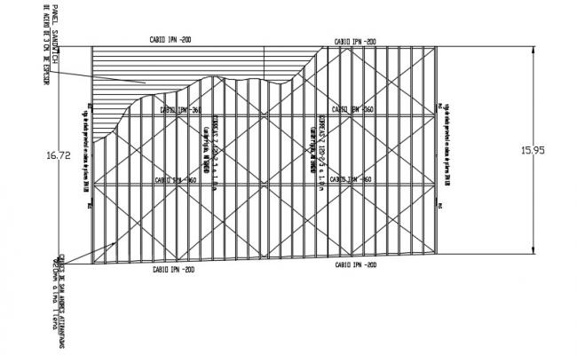 Roof Plan Drawing In DWG File