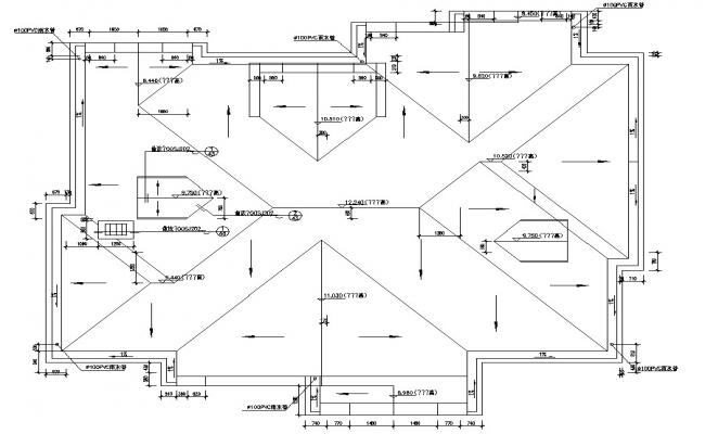 Roof Plan Working Drawing DWG File