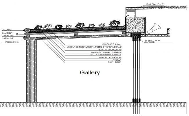 Roof Top Garden CAD Drawing
