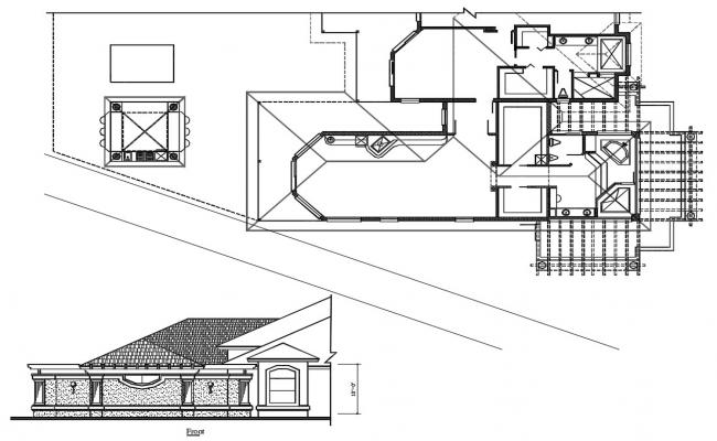 Roof Working House Plan DWG File