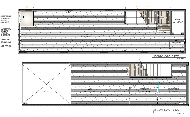 Roof building office plan dwg file