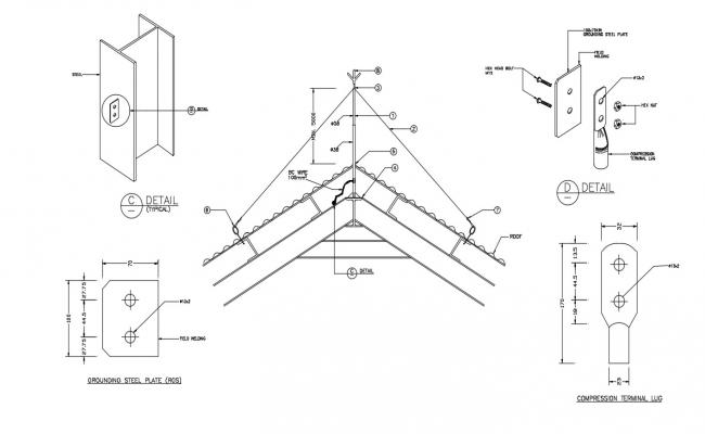 Download Free Roof components in AutoCAD file