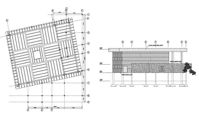 Roof design Plan AutoCAD Drawing