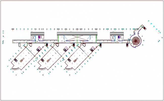 Roof design plan view dwg file