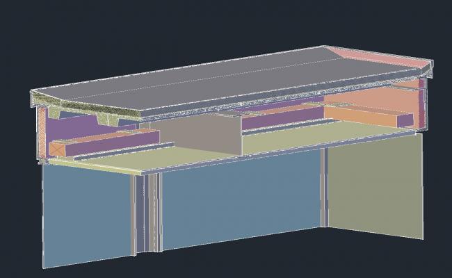Roof detail 3d design