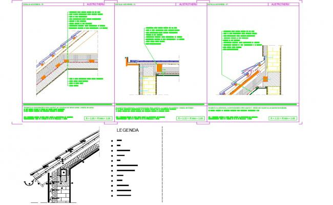 Roof detail autocad dwg files