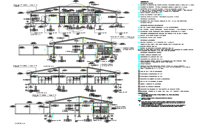 Roof elevation detail dwg file