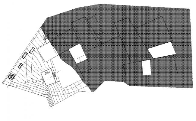 Roof floor plan detail dwg file