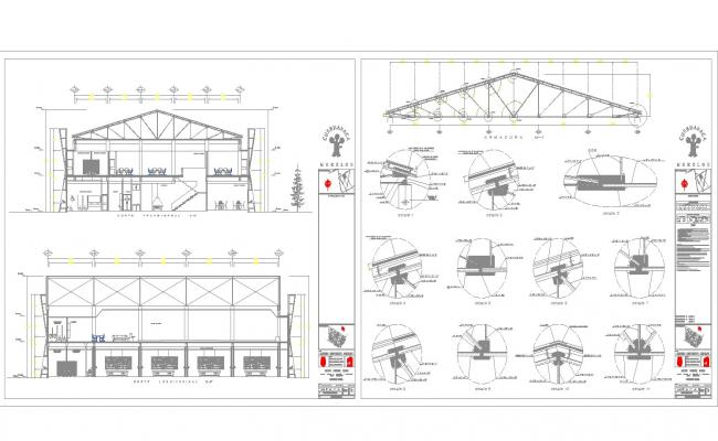 Roof joints detail cad files