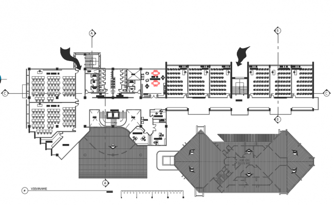 Roof office plan detail dwg file