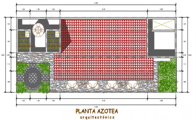Roof plan Centre line detail dwg file
