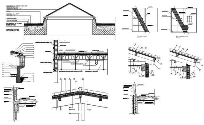Roof plan Design CAD file download