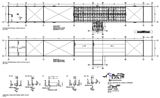 Roof plan and section autocad file