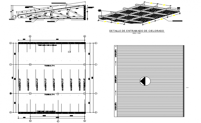 Roof plan and section layout file