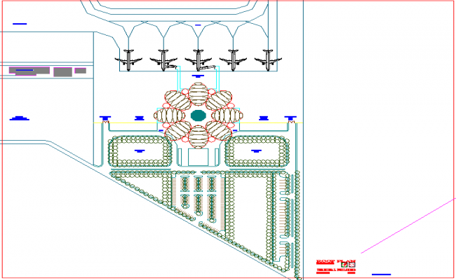Roof plan design of airport