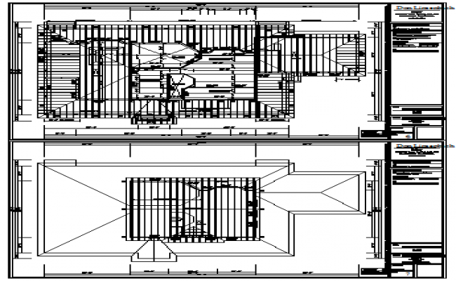 Roof plan detail design drawing of bungalow design drawing