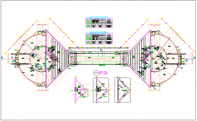 Roof plan detail for tower AB 49 floor