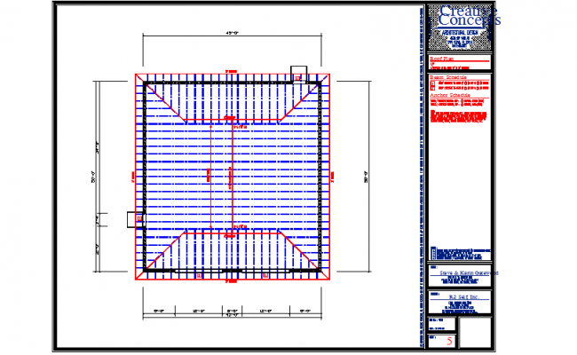 Roof plan working Lay-out Design