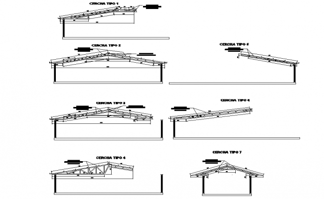 Roof section plan layout file