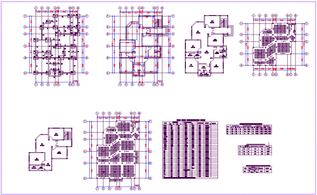 Roof slab reinforcement table with plan dwg file