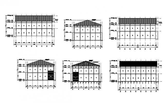 Roof structure and construction details dwg file