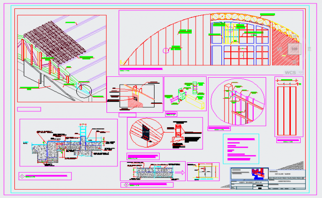Roof structure design drawing