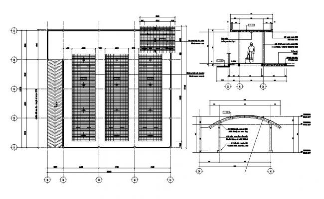 Roof top design plan CAD drawing