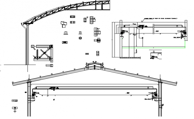 Roof truss deck solution with construction details dwg file