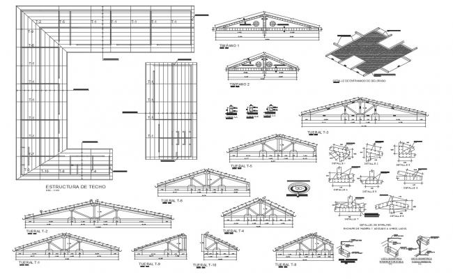 Roof truss design in autocad