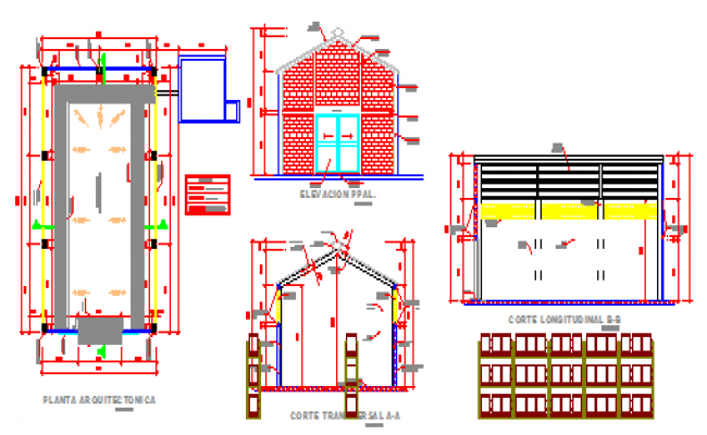 Roof trust detail design drawing