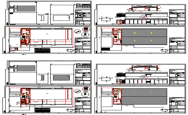 Roof trusted offices design drawing
