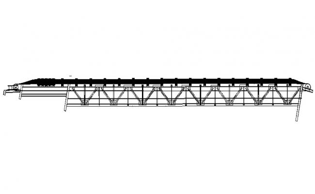Roof type band structure cad drawing details dwg file