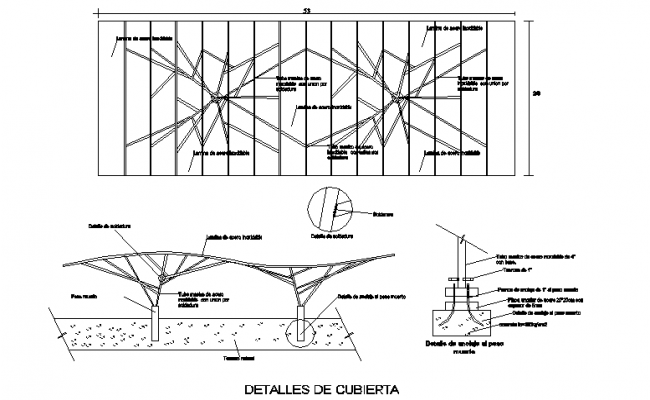 Roofing section plan