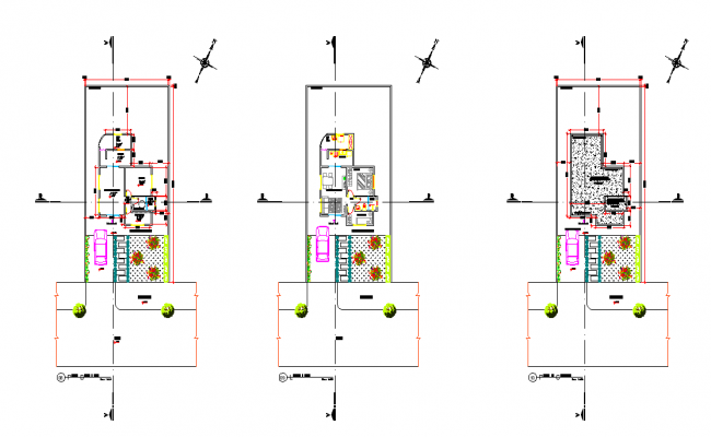 Room house models for social interest plan detail dwg file