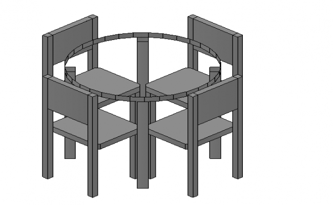 Round Dining Table 3d