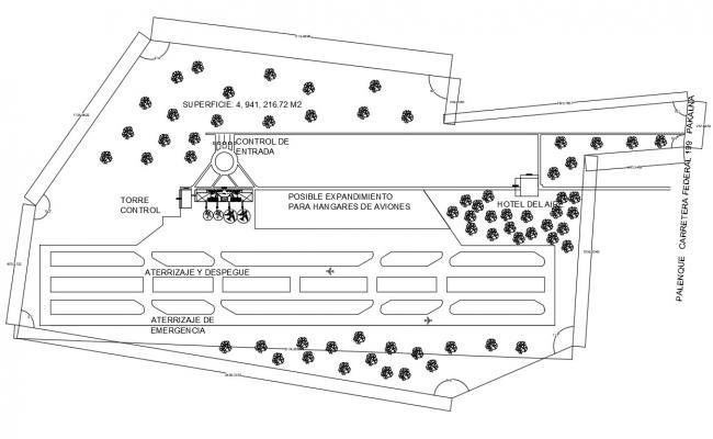 Runway Design CAD Plan