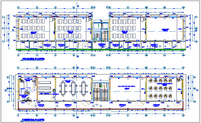 Rural area school floor plan dwg file