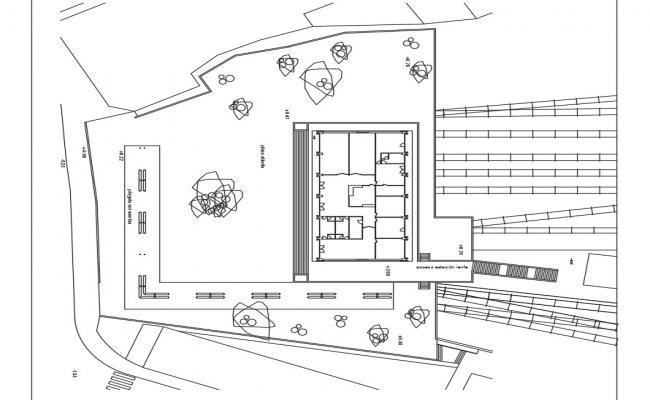 Rural region school architecture project dwg file