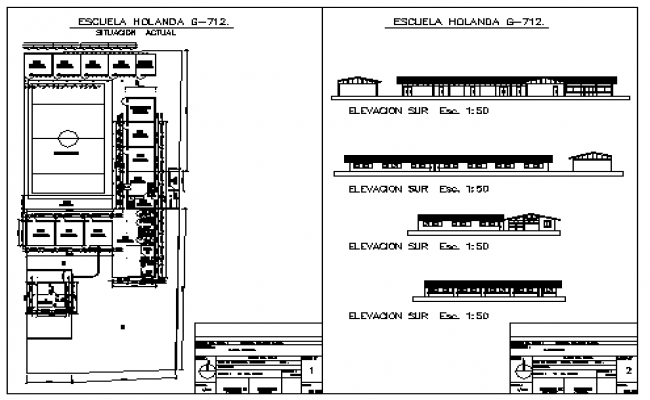 Rural school design drawing