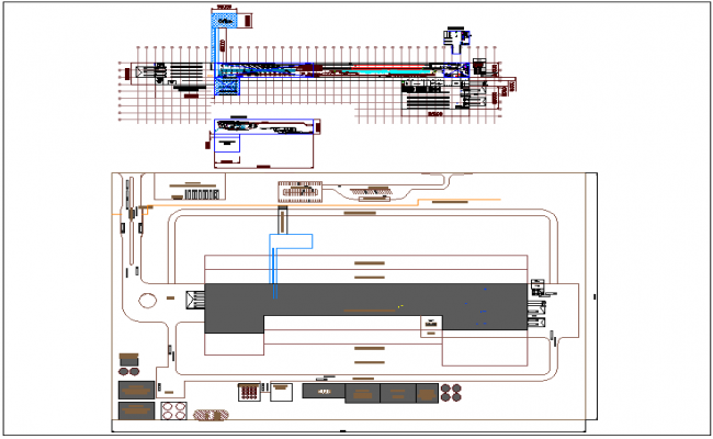 Russia water treatment plant with machine view plan dwg file