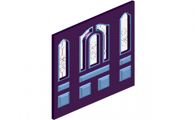 Rustic door design view in 3d