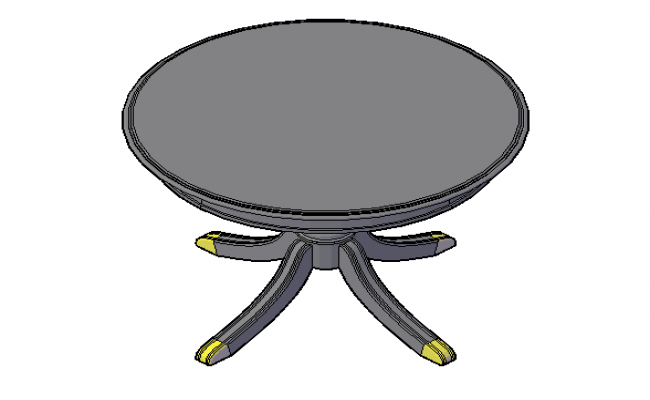Rustic round table 3d file