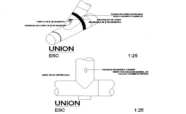 S-trap plumbing plan detail autocad file