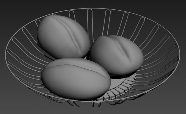 SS Fruit Tray 3D MAX File Free