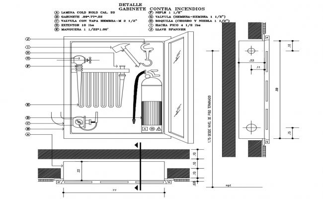 Safety Cabinet CAD drawing
