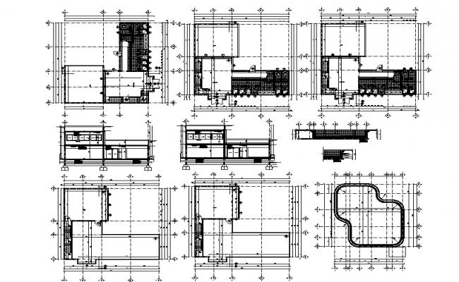 Saloon autocad construction details