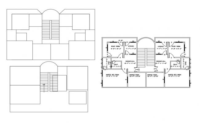 Sample House Plan CAD Drawing