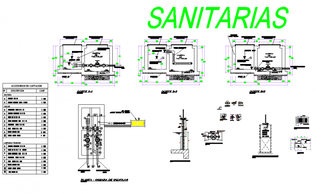 Sanitary Uptake system design layout file