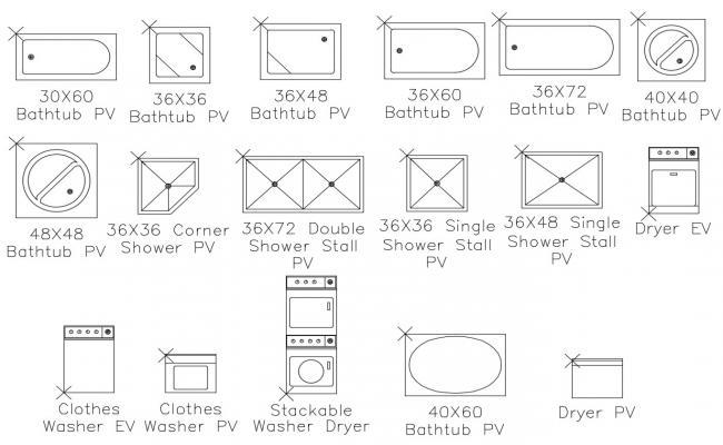 Sanitary Ware CAD Blocks Free Download